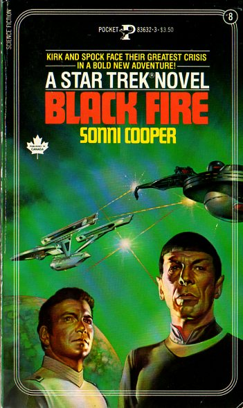 black fire star trek the original series numbered novels 8 by