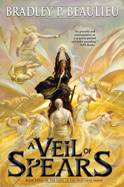 A Veil of Spears (The Song of the Shattered Sands, #3)